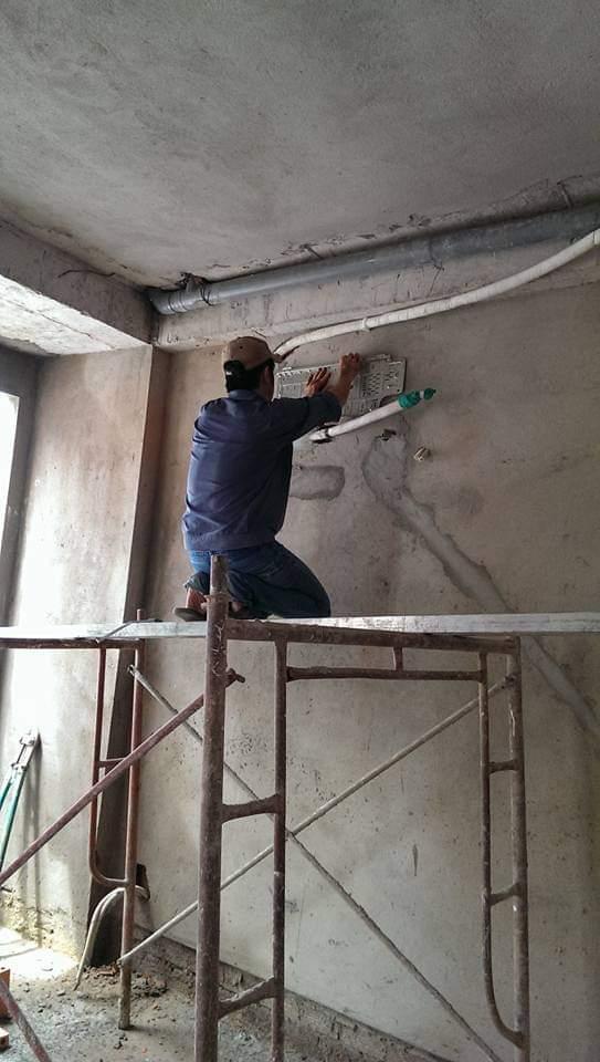 Lắp đặt ống đồng máy lạnh âm tường tại quận 2 4