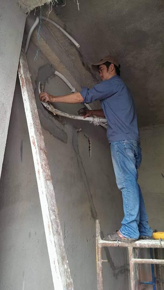 Lắp đặt ống đồng máy lạnh âm tường tại quận 2 1