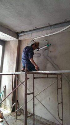 Lắp đặt ống đồng máy lạnh âm tường tại quận 2