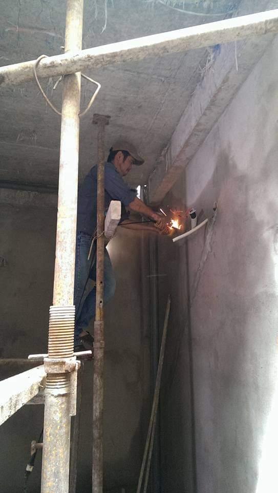 Lắp đặt ống đồng máy lạnh âm tường tại quận 2 3
