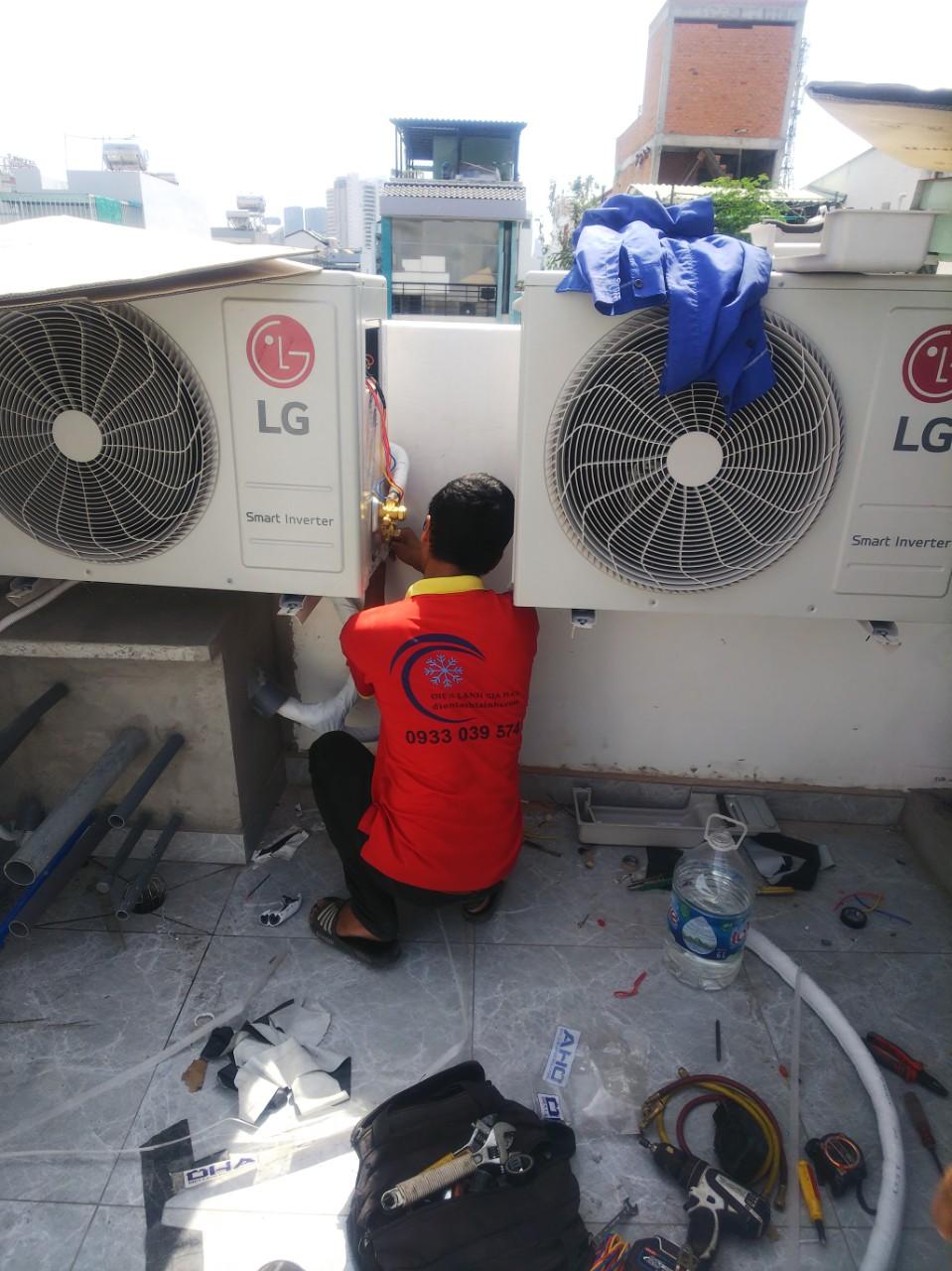Lắp đặt máy lạnh âm trần 1